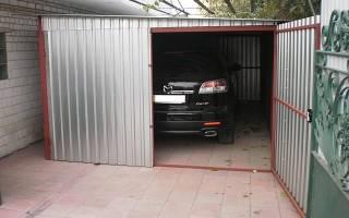 Как сделать разборный гараж своими руками