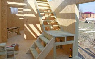 Временная лестница на второй этаж своими руками