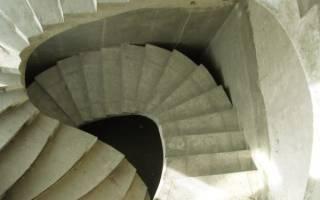 Бетонная лестница с забежными ступенями своими руками