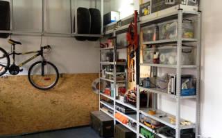 Стеллаж для колес в гараж своими руками