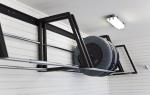 Как хранить резину без дисков в гараже
