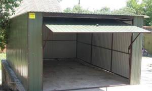 Каркасный гараж из профильной трубы своими руками